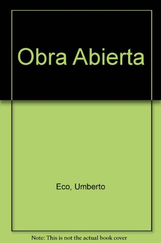 9789509122093: Obra Abierta (Spanish Edition)