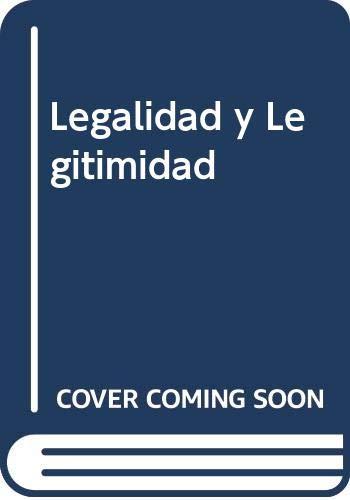 9789509221130: Legalidad y Legitimidad