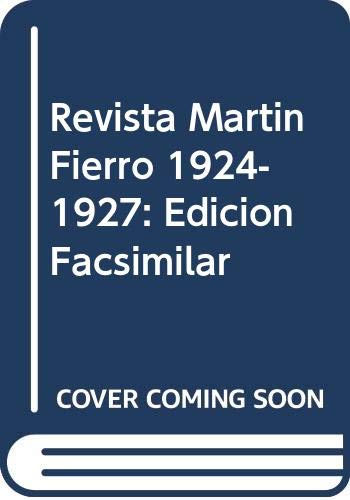 9789509807112: Revista Martin Fierro 1924-1927: Edicion Facsimilar