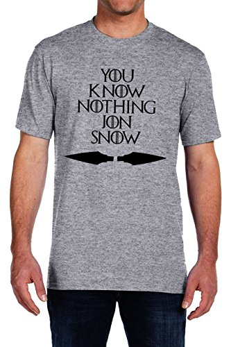 9789512064007: You Know Nothing Jon Snow - Game of Thrones T-shirt - Vinyl Printed T-shirt