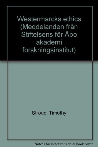 Westermarck's Ethics: STROUP (Timothy)