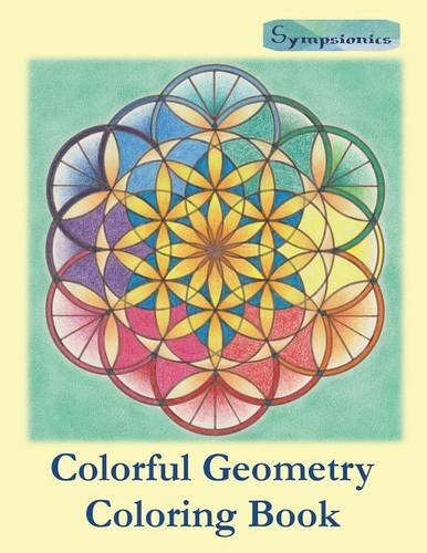 9789526821764: Colorful Geometry Coloring Book: Relaxing Coloring for Adults and Older Children with Colored Outlines