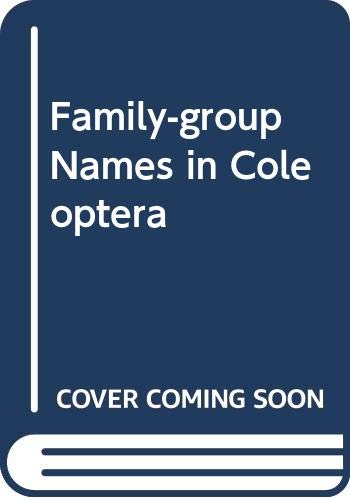 9789546425843: Family-Group Names in Coleoptera (Insecta)