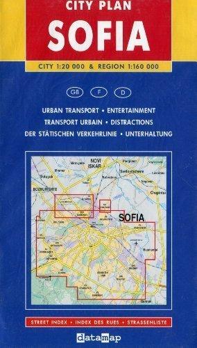 9789548717076: Sofia (Bulgaria) 1:20,000 Street Map & Region 1:160,000 DATAMAP