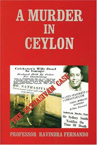 9789551266202: A Murder in Ceylon: The Sathasivam Case
