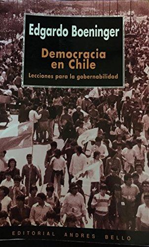 9789561315211: Democracia en Chile: lecciones para la gobernabilidad