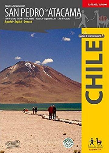 San Pedro de Atacama - Wanderkarte: Trekkingchile