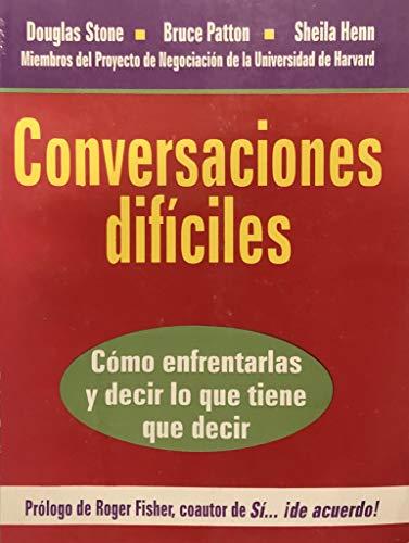 9789580452034: Conversaciones Dificiles