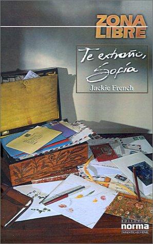 9789580459088: Te Extrano, Sofia / Missing You, Love Sara (Zona Libre) (Spanish Edition)