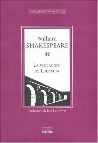 9789580465317: La Violacion de Lucrecia (Spanish Edition)