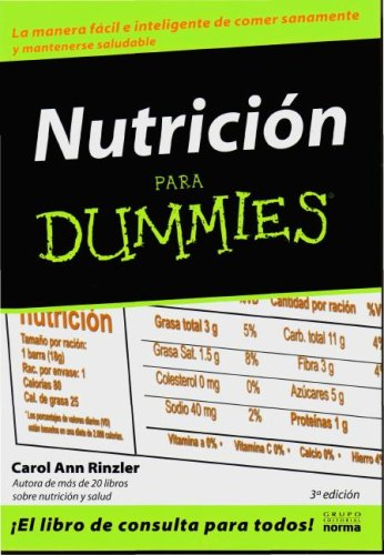 Nutricion Para Dummies / Nutrition for Dummies (Spanish Edition): Carol Ann Rinzler
