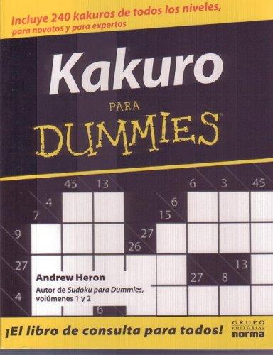 9789580493372: KAKURO PARA DUMMIES