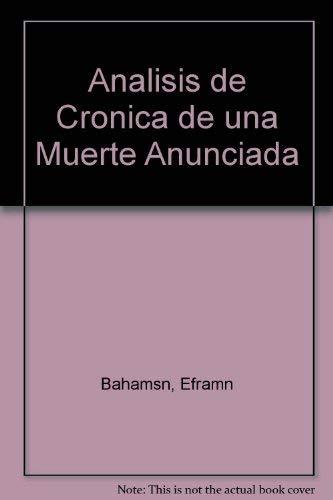 9789583012143: Análisis de Crónica de una muerte anunciada (Spanish Edition)
