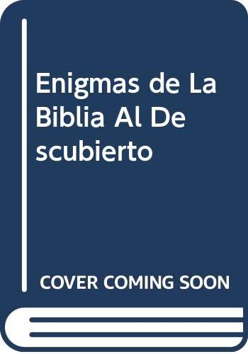 9789584209696: Enigmas de La Biblia Al Descubierto (Spanish Edition)