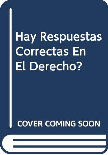 9789586650243: Hay Respuestas Correctas En El Derecho? (Spanish Edition)