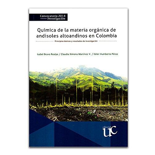 QUIMICA DE LA MATERIA ORGANICA DE ANDISOLES: AUTORES, VARIOS