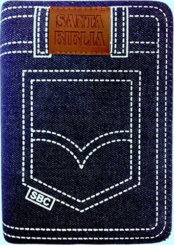 9789587451337: Biblia Letra Grande Tamaño Manual Tela Jean Azul con Cierre e Index RVR1960