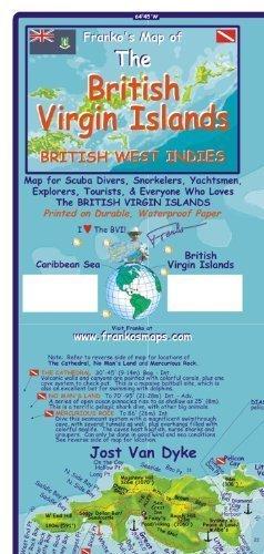 9789600459395: British Virgin Islands 1:110 000 / 75 000 Guide & Dive Map, waterproof, 2012 edition