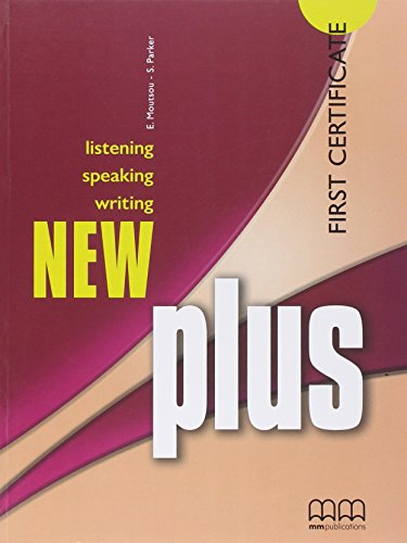 9789604437351: New Plus First Certificate. Listening. Speaking. Writing