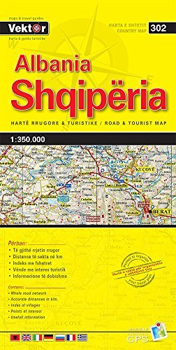 9789604487745: Albania Yellow Map: VEKTOR.302
