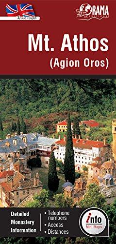 9789604489435: Mount Athos Info Map 435 2014: ORAMA.5.435