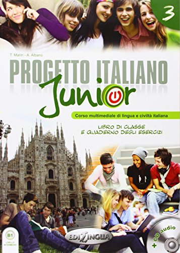 9789606930348: Progetto Italiano Junior: Libro + Quarderno + CD Audio (Livello B1) (Italian Edition)