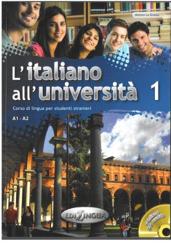 9789606930683: L'italiano all'universita: Libro + CD Audio 1 (Level A1-A2)
