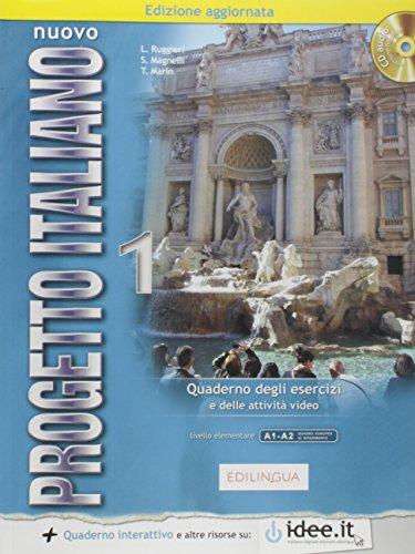 9789606931185: Nuovo progetto italiano livello elementare A1-A2 : Quaderno degli esercizi e delle attività video (1CD audio)