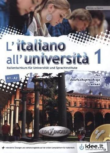 9789606931239: L'Italiano all'università - für deutschsprachige Lerner, m. Audio-CD