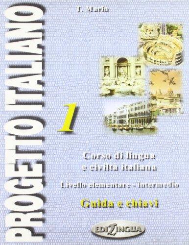 9789607706089: Progetto italiano: Guida e chiavi 1: Guida E Chiave 1
