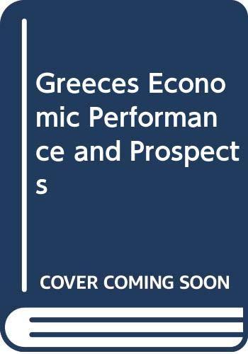 9789608714717: Greeces Economic Performance and Prospects