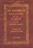 9789608994935: An Abridged Calendar of the Feasts of the Orthodox Church, Vol. 1
