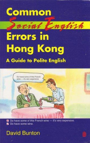 9789620006029: Common Social English Errors in Hong Kong: A Guide to Polite English