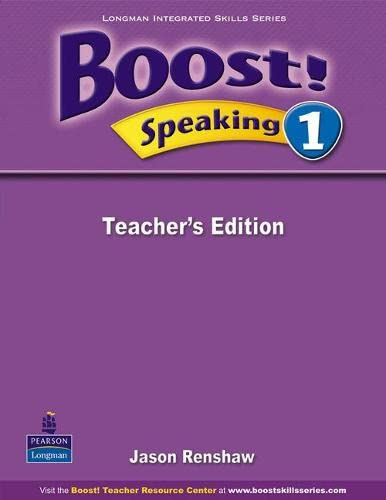 9789620059179: Boost ! Speaking: Teacher's Book Level 1