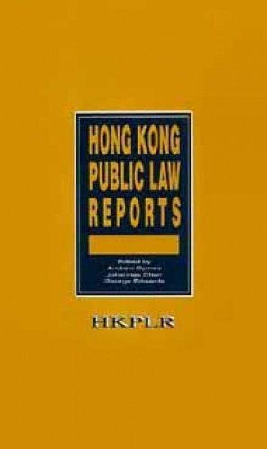 9789622093515: Hong Kong Public Law Reports: v.3 (v. 2)