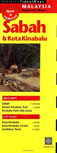 9789625937793: Sabah Travel Map 2nd Edition (Malaysia Regional Maps)