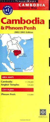 9789625937946: Cambodia & Phnom Penh Periplus Travel Map