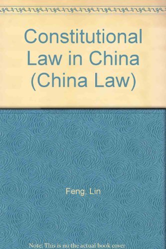 9789626610510: Constitutional Law in China (China Law)