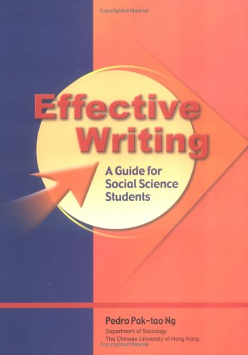 9789629961169: Effective Writing: A Guide for Social Science Students