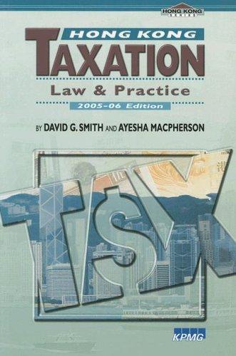 9789629962548: Hong Kong Taxation: Law and Practice (Hong Kong University Press Law Series)