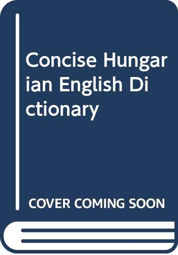A Concise English-Hungarian Dictionary