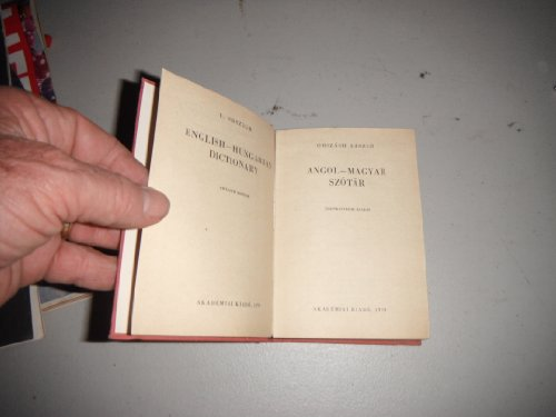 Magyar-Angol Szotar-Hungarian-English Dictionary: Lazslo, Orszagh, Laszlo
