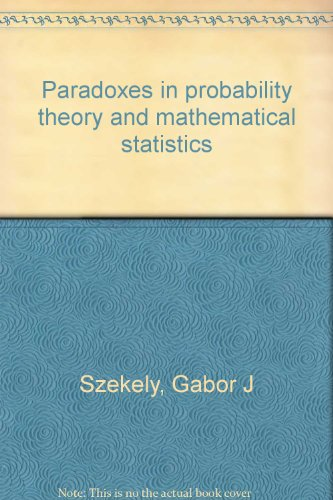 9789630541510: Paradoxes in probability theory and mathematical statistics