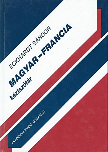 9789630569903: Hungarian-French Bilingual Dictionary