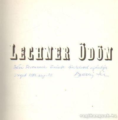 9789631309027: Lechner Ödön (Hungarian Edition)