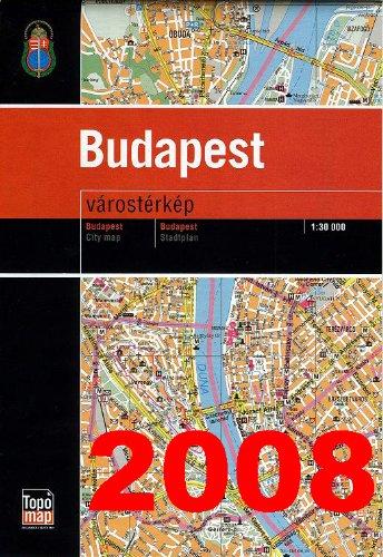 9789633502457: Budapest, terkep =: Map = Carte = Plan = [Karta] (Hungarian Edition)