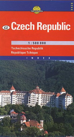 9789633524282: Czech Republic (European Road Maps) (Hungarian Edition)