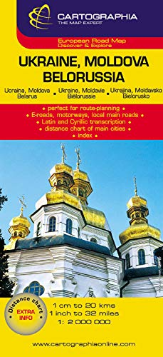 9789633525043: Ukraine, Moldova, Belarus (Cartographia Country Maps) (French, English and German Edition)