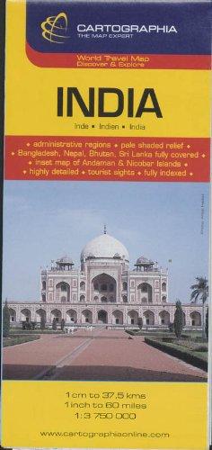 9789633529638: Mapa Cartographia India: Cartographia Map Collection (KAARTEN/CARTES MICHELIN)