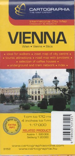 9789633531525: Vienna (City Map)